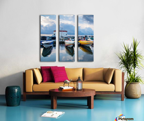 Dawn at the Marina Split Canvas print