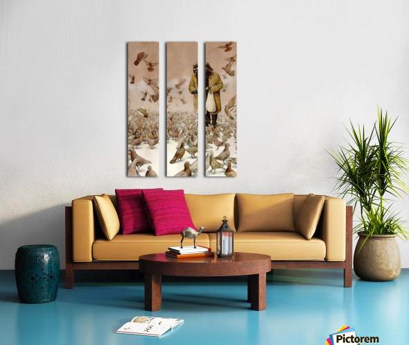 clones Split Canvas print