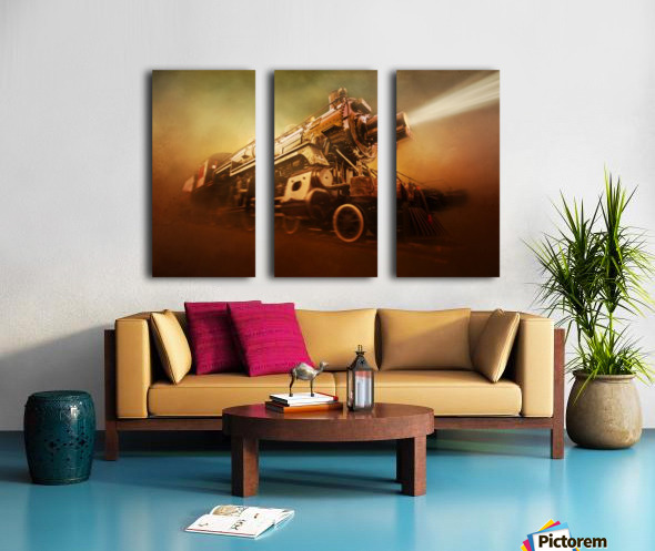 Engine 1095 Split Canvas print