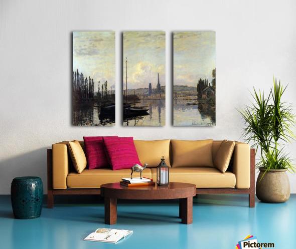 View of Rouen by Monet Split Canvas print