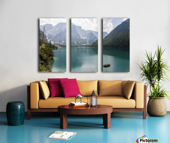Lake of Braies Split Canvas print