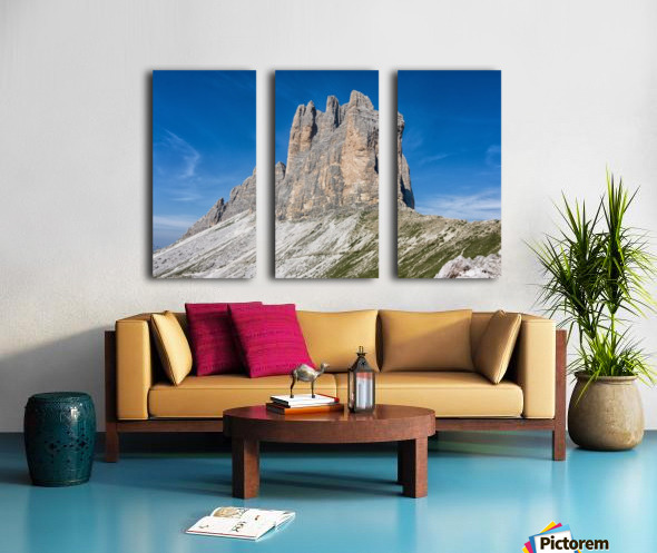 Three peaks of Lavaredo Split Canvas print