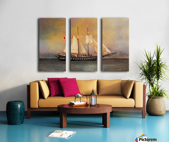 Fair Jeanne Split Canvas print