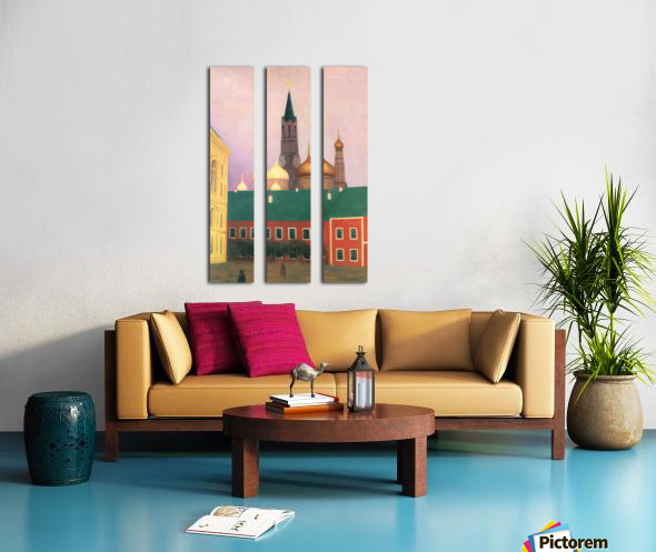 View of the Kremlin in Moscow by Felix Vallotton Split Canvas print