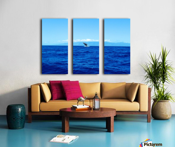 Bigger Blue Split Canvas print