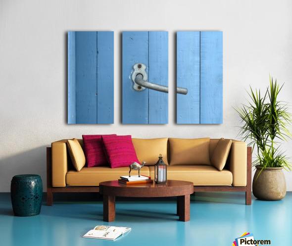 Blue Door Split Canvas print