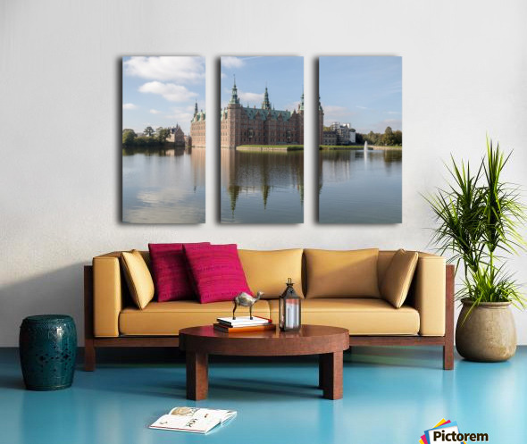 Castle of Frederiksborg  Split Canvas print