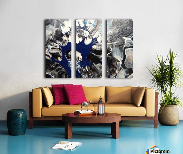 BLACK AND BLUE Split Canvas print