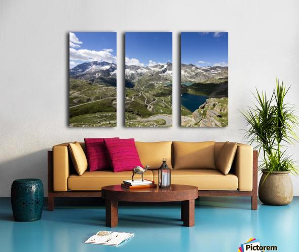 Landscape of Gran Paradiso Split Canvas print