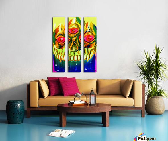 Three eyed skull painting Split Canvas print