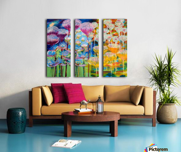 Levity Blooms Split Canvas print