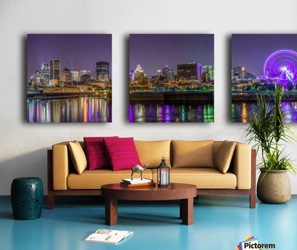 Montreal skyline Split Canvas print