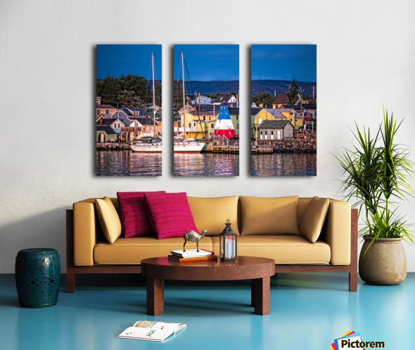 Cheticamp Waterfront at Sunset Split Canvas print