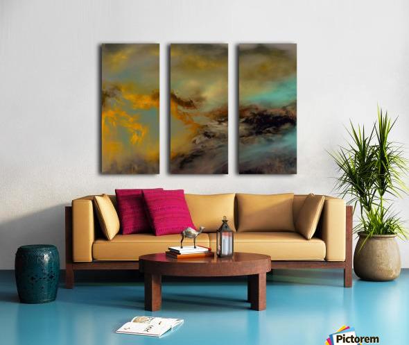 ABST 041018 Split Canvas print