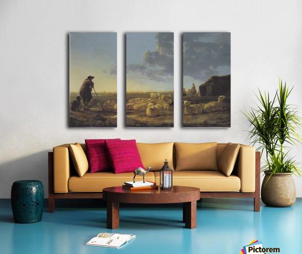 Schafherde auf der Weide Split Canvas print