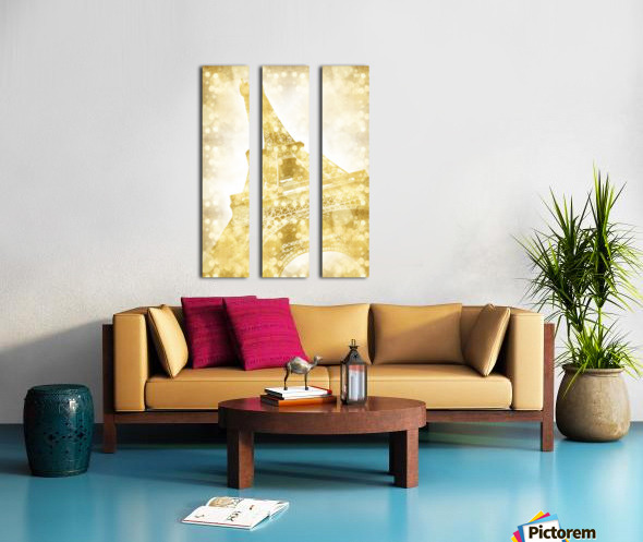 EIFFEL TOWER   golden illusion Split Canvas print