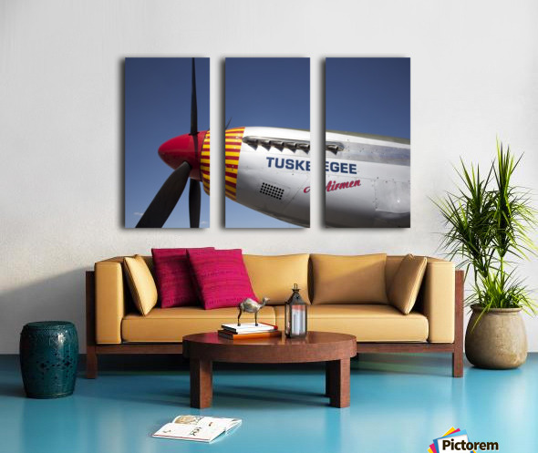 P-51 Redtail Nose Split Canvas print