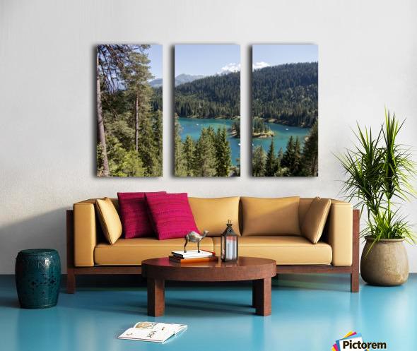 Lake of Cauma Split Canvas print