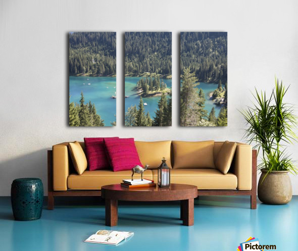 Lake of Cauma Split Canvas print