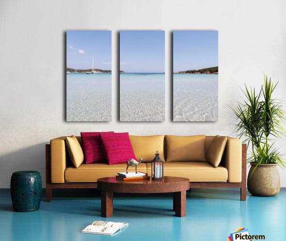 Rondinara beach in Corse Split Canvas print