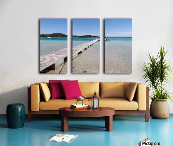 Rondinara beach in Corse Split Canvas print