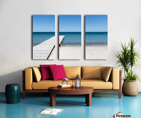 Pinarellu beach in Corse Split Canvas print