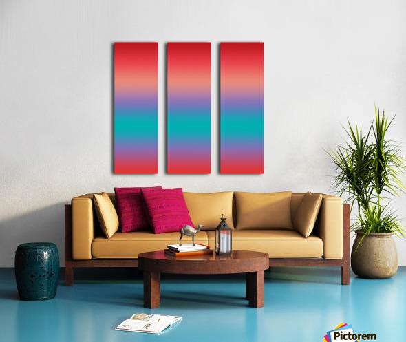 summer Ombre Split Canvas print