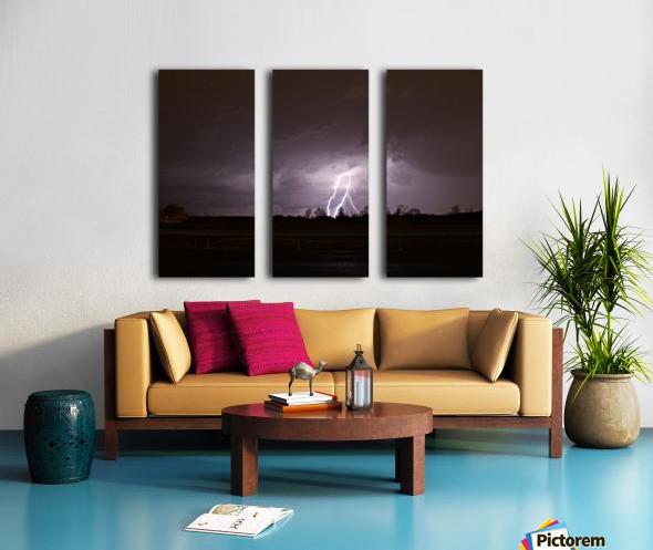 Summer Storm Split Canvas print