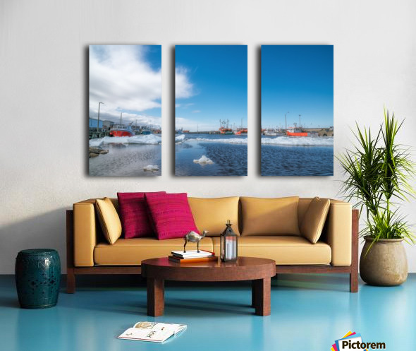 April at la Digue Split Canvas print