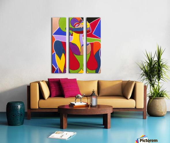 Cosmic Woman  Split Canvas print