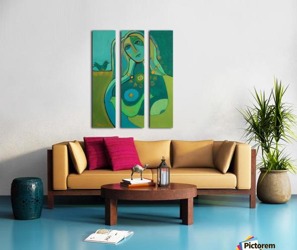 green Split Canvas print