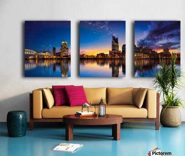 Nashville Skyline Split Canvas print