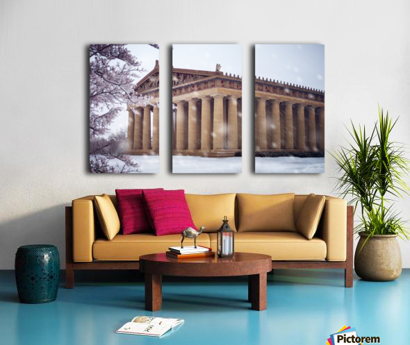 Parthenon in Nashville during winter Split Canvas print