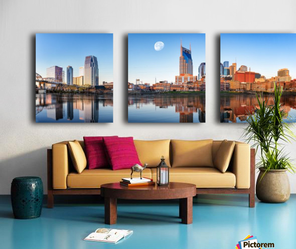 Nashville Skyline in the morning Split Canvas print
