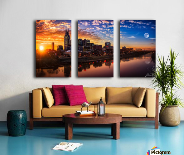Nashville Skyline and sunset Split Canvas print