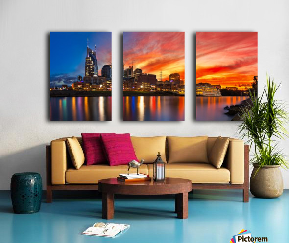 Nashville and General Jackson  Split Canvas print