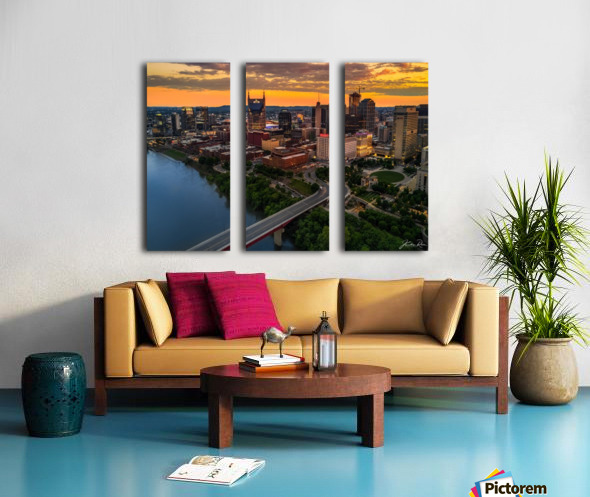 Nashville Sunset Split Canvas print