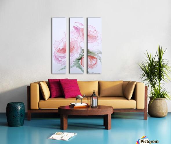 Flowers of Happiness Split Canvas print