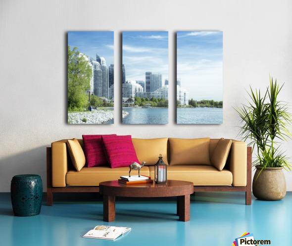 Waterfront Split Canvas print