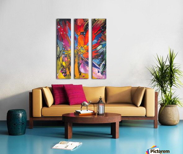 Crystals Split Canvas print