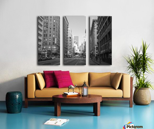 7th & Broadway DTLA - B&W Split Canvas print