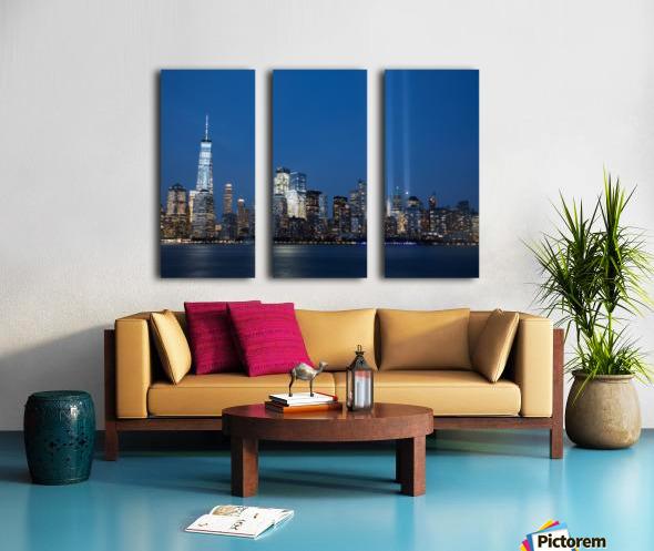 911 Memorial Lights NYC skyline Split Canvas print