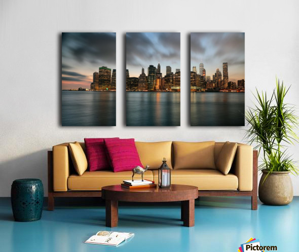 New York City Skyline at Dusk Split Canvas print