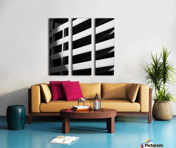 Bold Bands in Black & White Split Canvas print