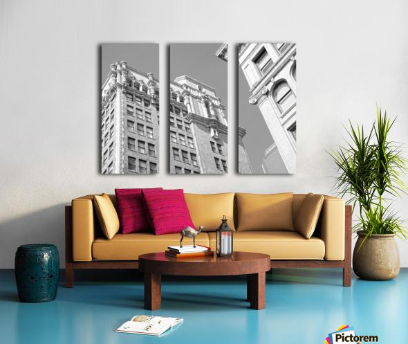 DTLA South Broadway & West 3rd - B&W Split Canvas print