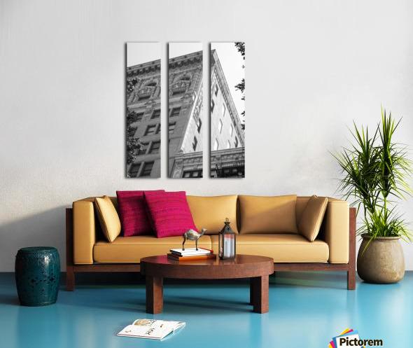 Continental Building DTLA - B&W Split Canvas print