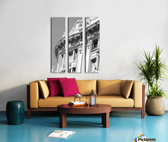 B&W Intricate Details - DTLA Split Canvas print