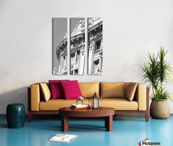 B&W Intricate Details - DTLA Split Canvas print