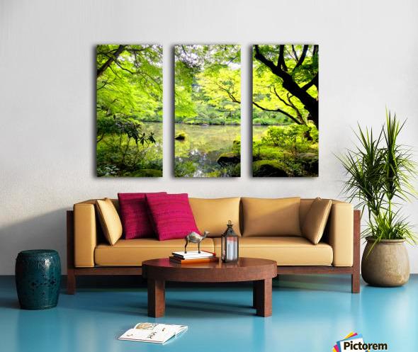 Tokyo Garden Split Canvas print