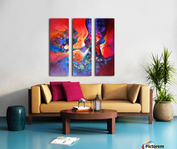 harmony II,size 33 inches x33 inches, medium acrylic on canvas Split Canvas print